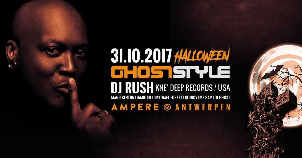 ampere antwerp nightlife halloween dj ghost dj rush antwerpen club venue party